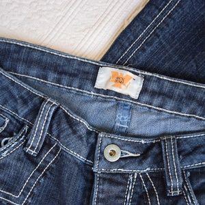 Antik Denim Jeans - ANTIK DENIM embroidered  western coot cut jean